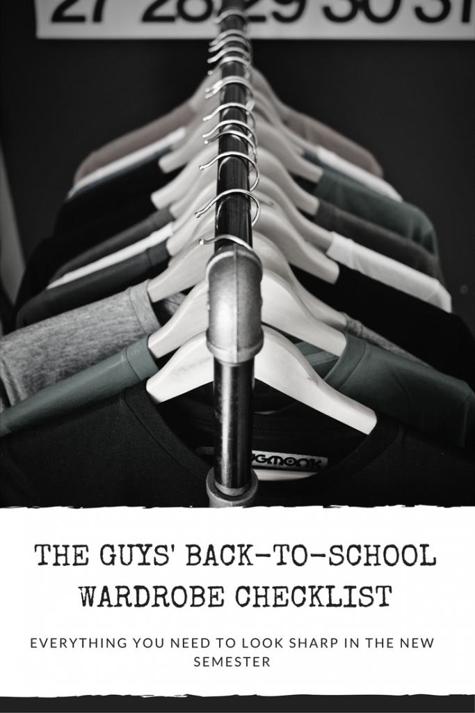 back to school for guys, fall fashion for boys, high school fashion, dad's guide to back to school. checklist, easy checklist, shopping, canada, mark's