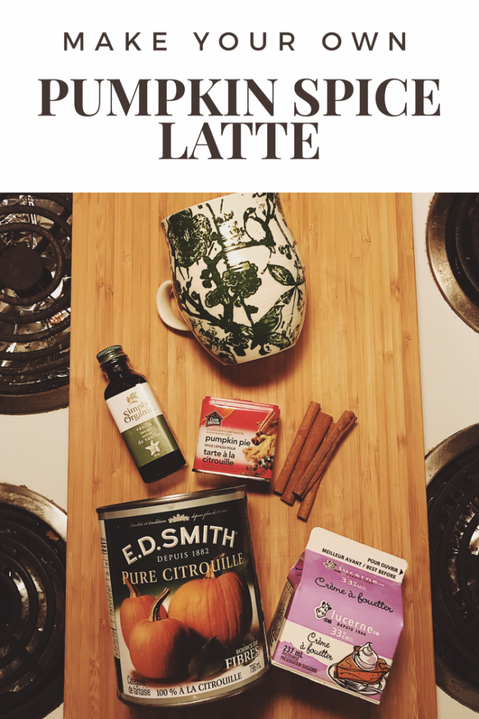 Pumpkin Spice Latte Recipe so you can start your Fall Food Recipes