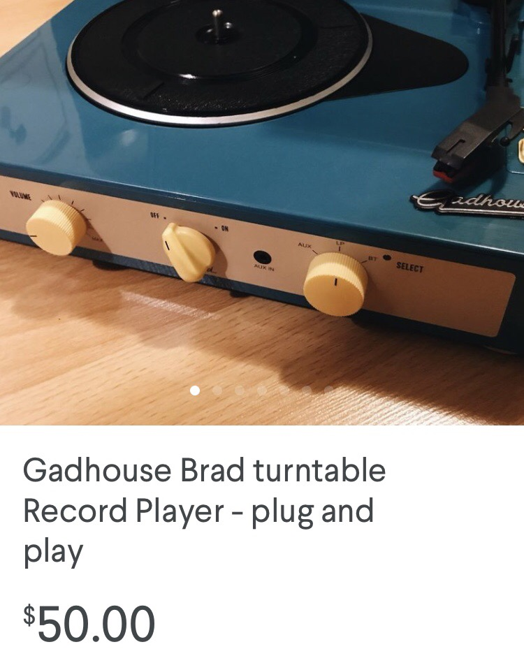 gadhouse record player, record player for sale, vancouver, kijiji, kijijij,