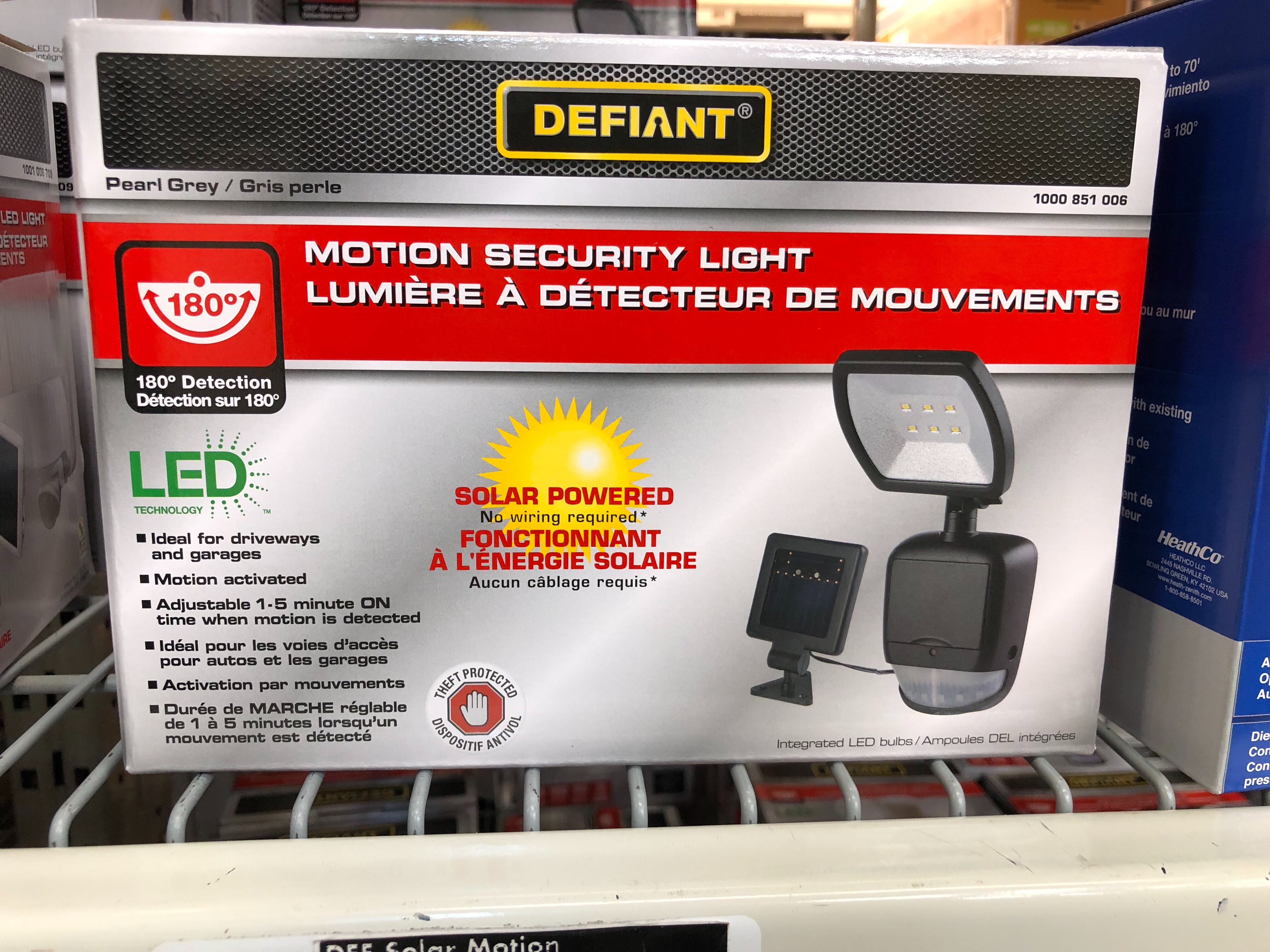 Defiant Motion Security Light Solar Powered Socialdad Ca