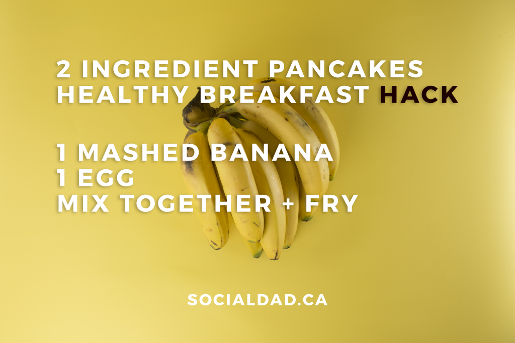 healthy banana pancakes, egg pancakes recipe, low fat, low carb pancakes, how to boil an egg, healthy breakfast ideas, breakfast diet, recipes, vancouver blog, vancouver sun run, vancouver dieters, dad blog, social dad, james smith, james r.c. smith, canada dad, parenting dad, healthy dad blog, mom blog, mum blog,